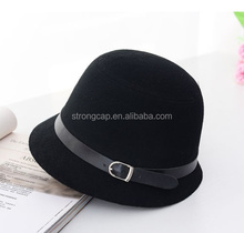 Made in China winter Short Brim lady fashion English stytle bucket hat