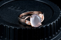HDS11nature ross quartz rose gold plated 925 sliver moroccan wedding rings