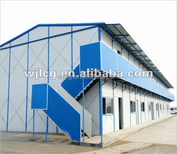 Sandwich panel prefab house with light steel structure house