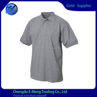 Wholesale High Quality Short Sleeves Plain Pique Cotton Polo T-shirts