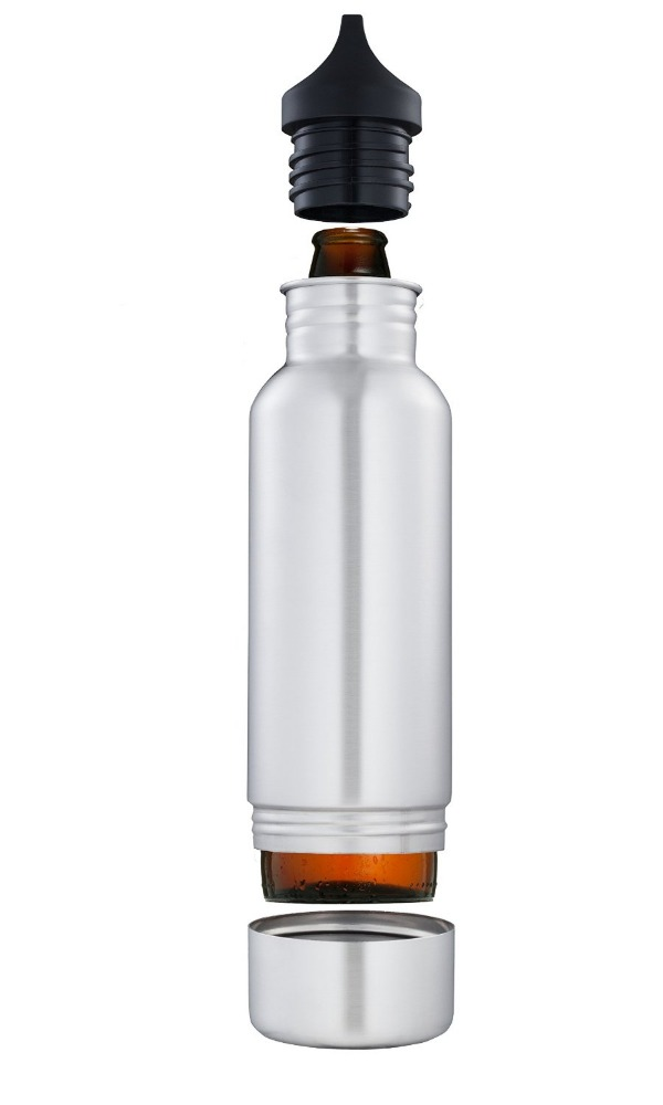 Stainless steel Keeps Beer Ice Cold keeper, Stainless Steel bottle Insulator with Opener