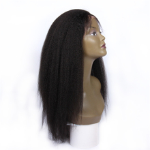 kinky straight 360 wig cap indian human hair wigs for black women