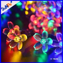 CE Rohs Approved Outdoor Solar Powered Led Festival Christmas String Light