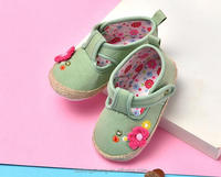 New born baby princess style dress shoes with little flowers