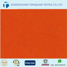 100% cotton twill safety orange fabric for workwear