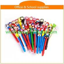 High quality cartoon polymer clay ball pens brush ballpen
