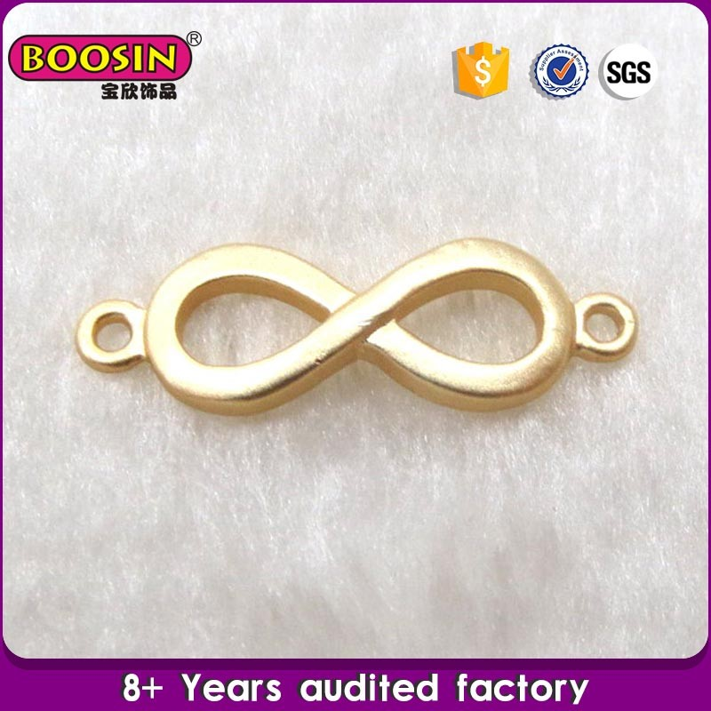 Wholesale women accessories gold plating Infinity symbol bow charms metal pendant