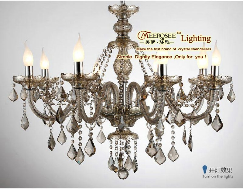 2013 Romantic Ballroom Chandeliers, Moroccan Crystal Glass Candle Holders Chandeliers MD10156-L8