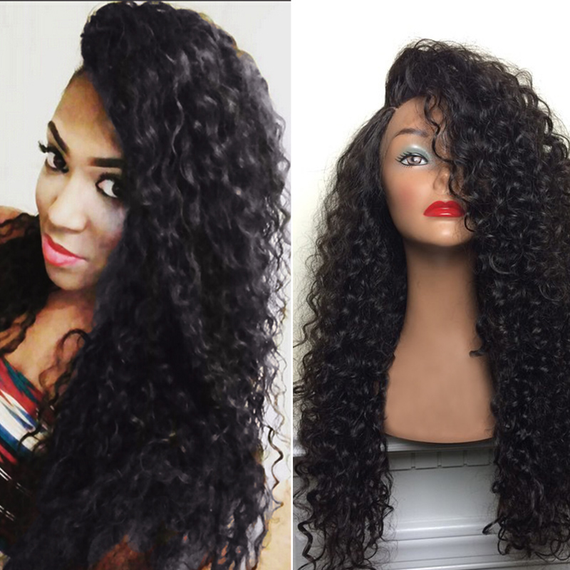 8a Grade Virgin Unprocessed Human Hair Deep Wave Brazilian Wigs Full Lace Glueless for Black Women