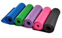 1/2-Inch Extra Thick 71-Inch Long NBR Comfort Foam Yoga Mat for Exercise, Yoga, and Pilates