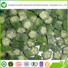 Wholesale cheap grade A IQF frozen okra cut