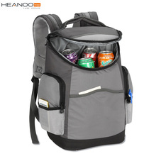 Dark grey Ultimate insulated cooler bag picnic backpack bag for beer cans food