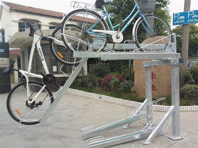 Slideable Pull Easy Two Tier Bicycle Storage Rack
