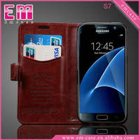 Flip Oiled Pattern Leather Case For Samsung S7, Wallet Phone Case For Galaxy S7