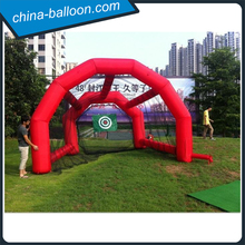Red color inflatable golf net with target / Inflatable golf practice game
