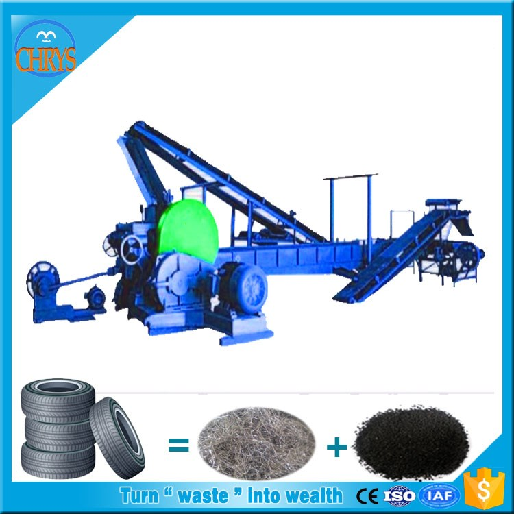 30 mesh Used tire shredder powder making plants_Scrap tires recycling equipment