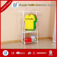 folding bilayer clothes tree hanger coat rack