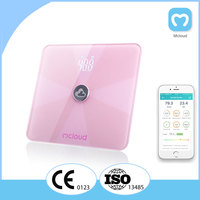 Digital glass bluetooth electronic weighing scale