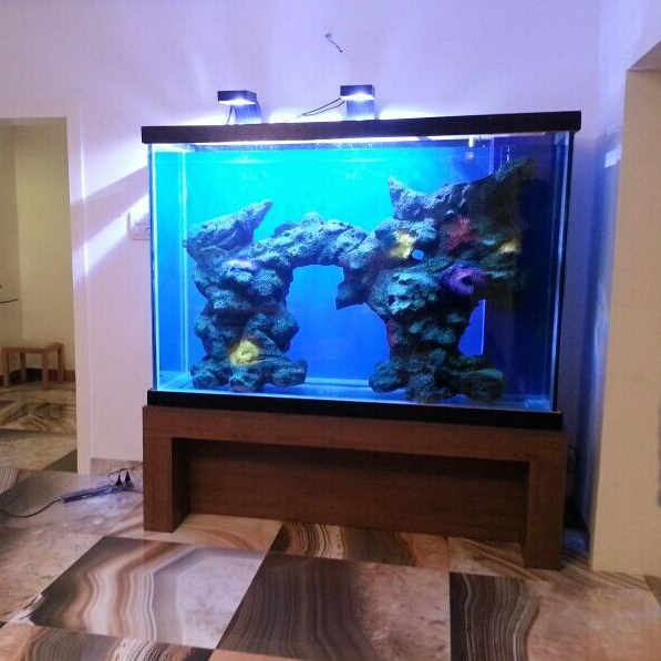 New design hot sell with LED light aquarium fish tank