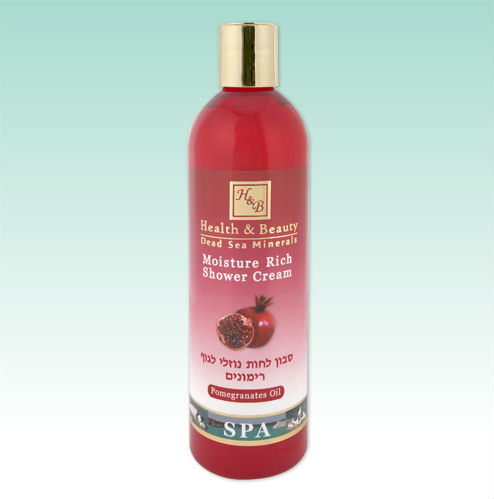 H&B - Health and beauty dead sea minerals - Moisture rich shower cream - Pomegranates 400ml