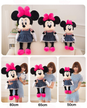 Factory Price Soft Stuffed Toys Plush Dolls Mickey Minnie Mouse for Christmas Kids Gift