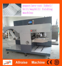 High speed paper/ sticker roll/ bill roll paper folding machine, Automatic label folding machine , Z type sticker folding