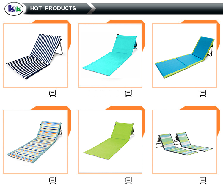 Portable beach mat foldable lounge beach chair can be customized
