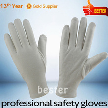INSPECTION usage hot seller factory supply white cotton gloves with pvc