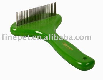 Green and Wood Dog rake comb