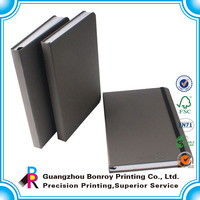 Popular PU leather customized paper carboard cover notebook with elastic