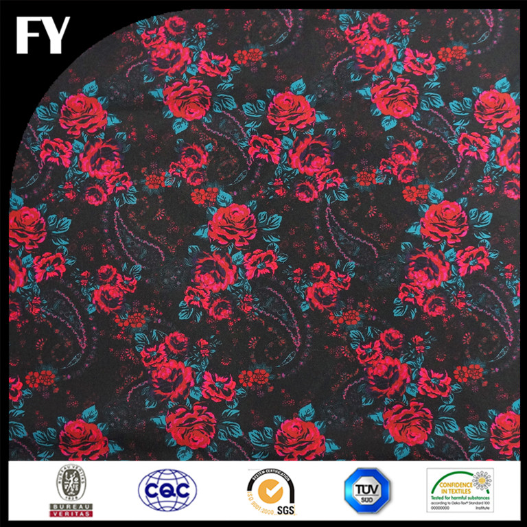 Custom digital printed 100% polyester oxford printed fabric for bags
