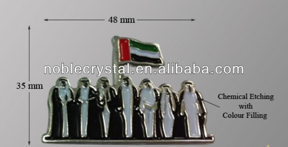 Noble Custom Made UAE National Day Metal Pin