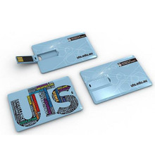 Credit Card USB 2.0 Flash Drive with Free Laser Engraved Logo
