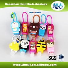 Hot selling 30ml mini hand sanitizer with animal silicone holder