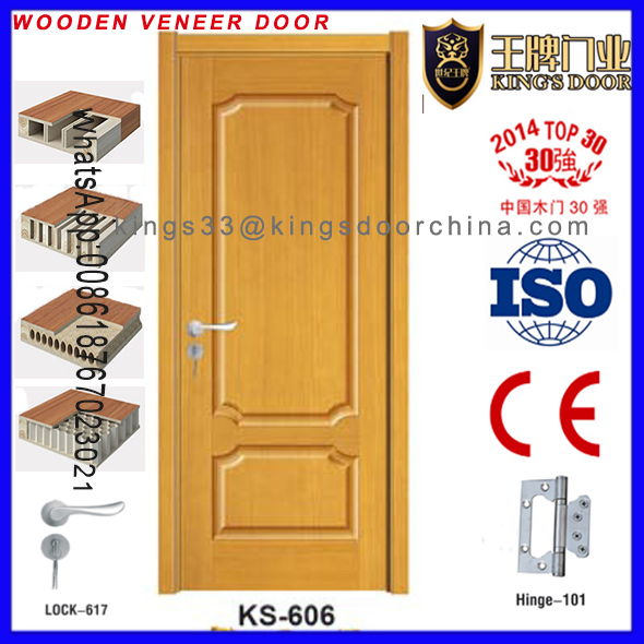 Swing Open Style and Surface Painting Solid Wood Door