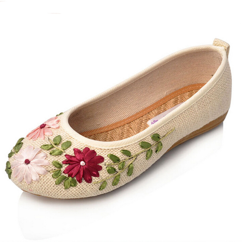 01ec30d0683a Get Quotations · Ladies Flat Shoes 2015 New Fashion Beijing Slip On Shoes  Woman Embroidered 5 Colors Soft Casual