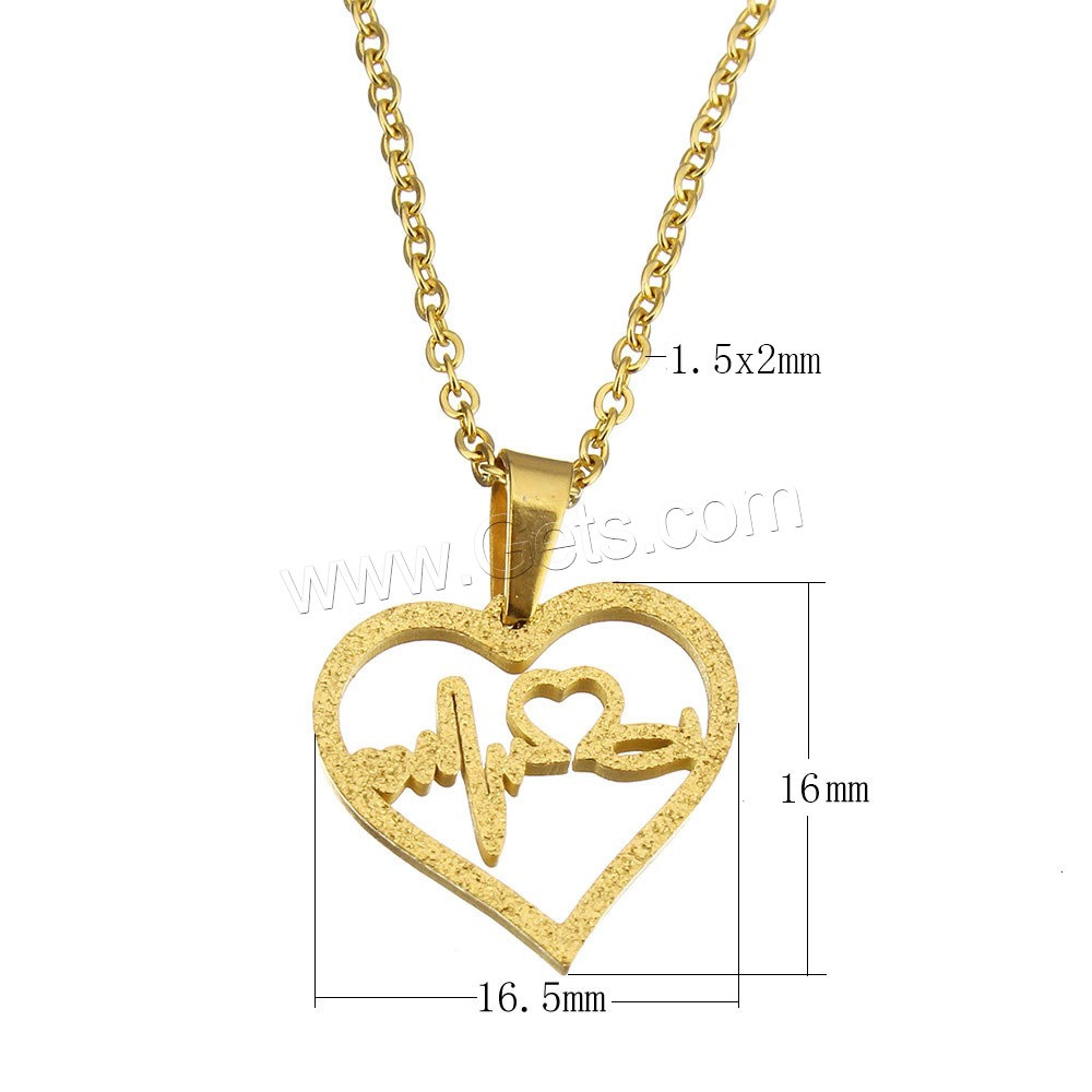 Yiwu Factory 316 Stainless Steel Fashion jewelry Heart Pendant Necklace for Lover 1163331