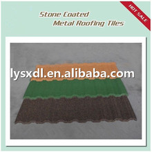 Easy installation Ceramic roofing tile stone coated metal roofing tile, heat insulation corrugated synthetic resin plastic ro
