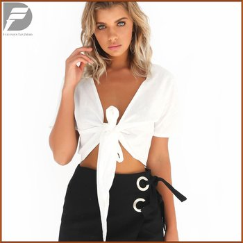 new fashion women sexy short sleeve half shirt