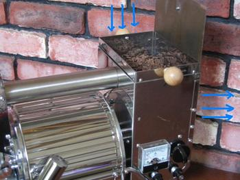 BEANS COOLING AND AIRFLOW DIRECTION PICTURE