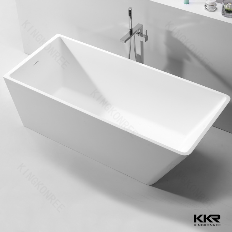 Certer drain acrylic solid surface two person freestanding bathtub