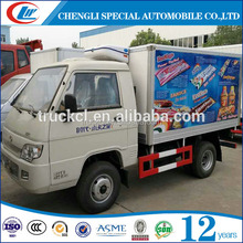 4 tons mini fridge truck with Good quality refrigerator unit delivery frozen food