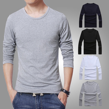 MS70943G Wholesale men's plain long sleeve t-shirts