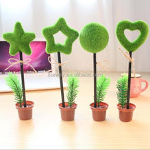 Different shape plant pot ball pen Plant star ball point pen