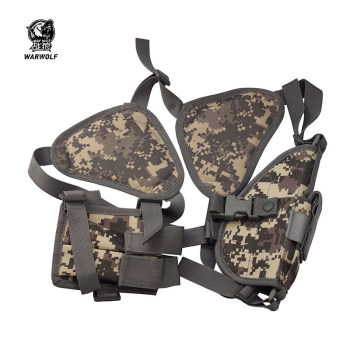 Outdoor Tactical Universal Hidden Shoulder Pistol Holster with 2 magazine Pouch gun pouch shoulder holster