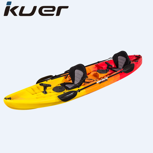 No Inflatable and 3 Paddlers (Max) roto molded plastic kayak