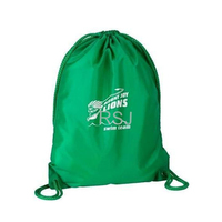 Logo printed non woven drawstring bag for shoes