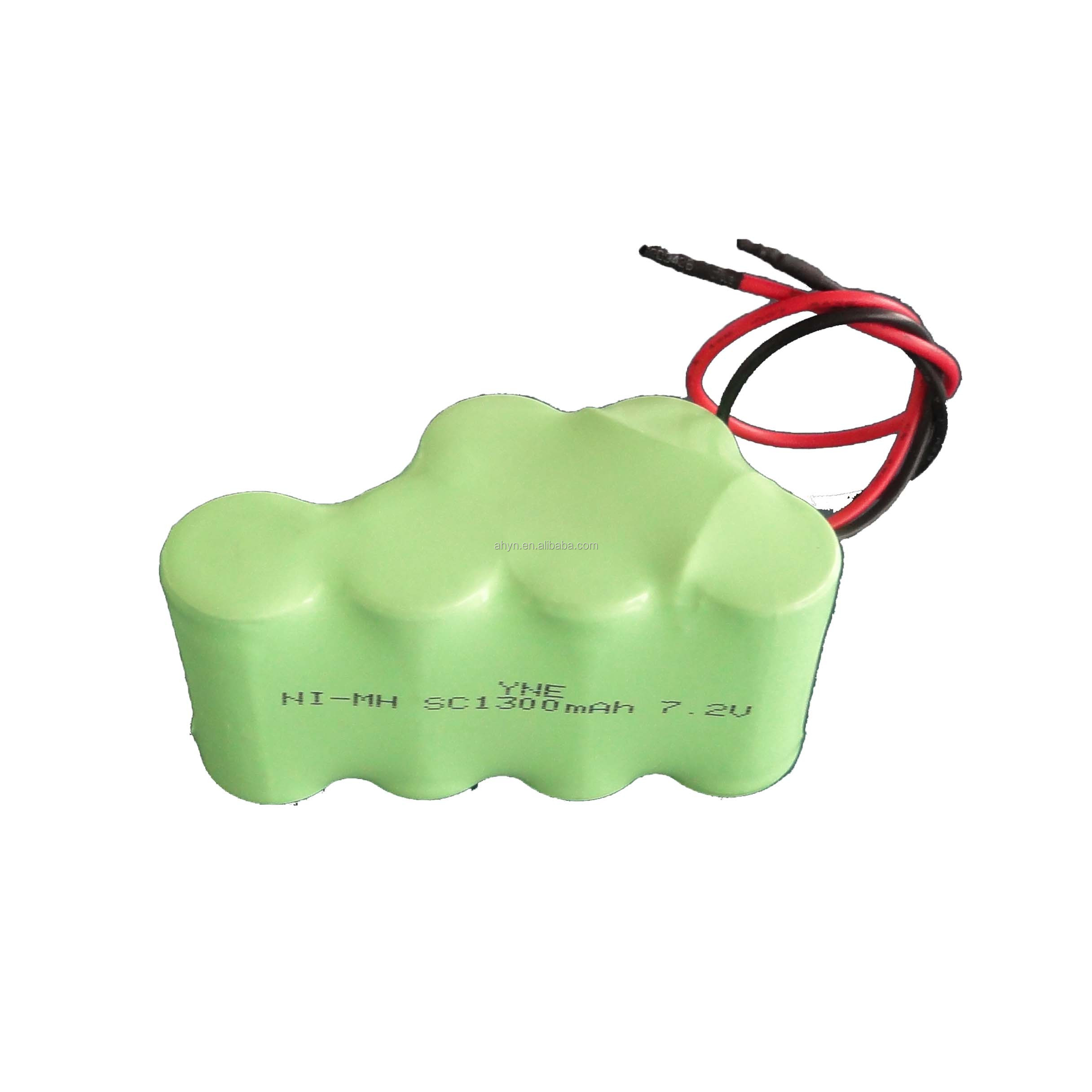 cheap high capacity rechargeable C1300mah 7.2V nimh battery for Vending machine ,toys,lights,flashlight,emergency power supply