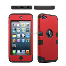 Factory cheap tuff hybrid silicone phone case for iPod touch 6 back rubber cover