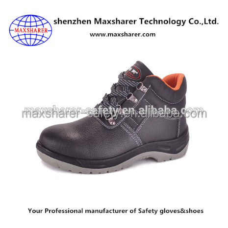 men steel toe safety shoes sport with leather